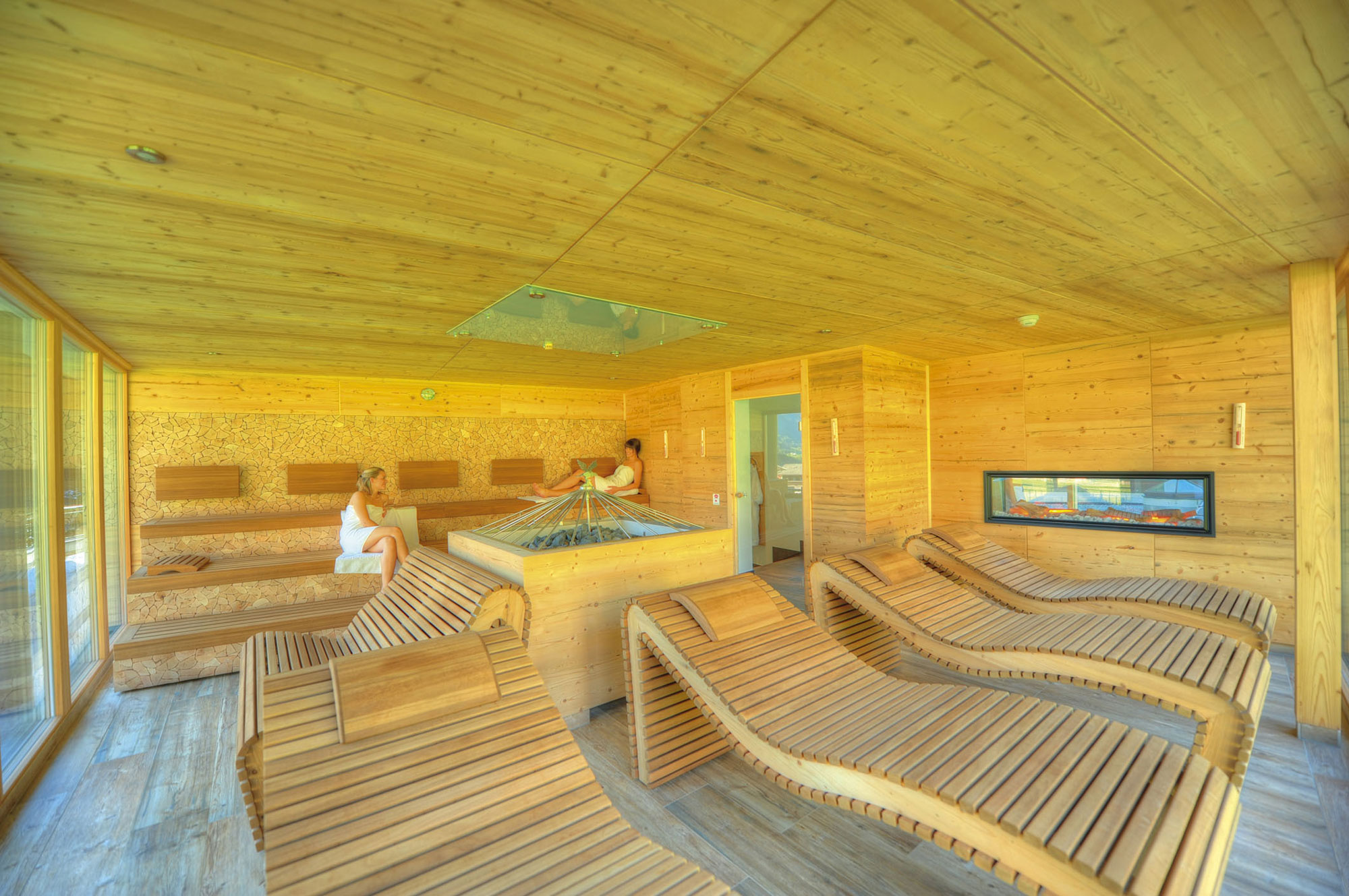 Recuperation for body and soul in our sauna area.